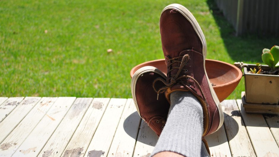 Deck Shoes on the man
